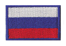 Embroidered badge little / small fusible flag patch Russian Russia 45x30mm