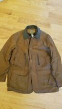 Mens LL BEAN Double L Waxed Cotton Upland Coat Size M. Hunting coat