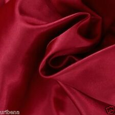 """Bridal Satin Fabric for Wedding Dress 60"""" Width Charmeuse By the Yard Dark Red"""