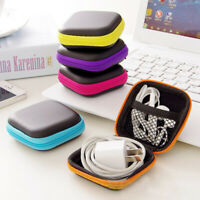 Portable Hard Case Storage Bag Earphone Mesh Pocket Zipper Headphone Earbuds