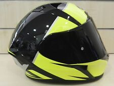 Casco integrale AIROH VALOR ECLIPSE nero giallo fluo