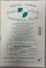 More details for yeovil town v glastonbury, somerset professional cup  1961/62