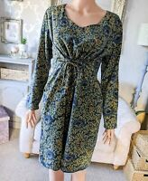 Nomads Ladies 12,14 Dress 100% Cotton Drawsting Turquoise WORN ONCE IMMACULATE