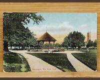 Vintage Postcard-Devon-Barnstaple Rock Park Bandstand-Colour 1906