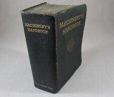 Machinery's Handbook 12th Edition 1945 Book Erik Oberg & F D Jones Machine Shop