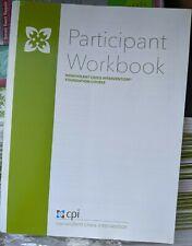NEW CPI Nonviolent Crisis Intervention Participant Workbook w Blue Card PWKB0170