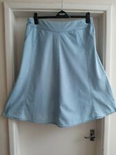 MARKS and SPENCER Classic 100% cotton chambray blue panel design skirt size 18