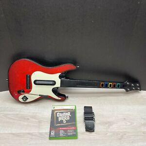 Xbox 360 Guitar Hero 5 Wireless Controller Bundle w/  Game + Strap Bundle LOT