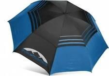 "New Sun Mountain 68"" Manual Black/Cobalt Golf Umbrella 30+ UV Protection NWT"