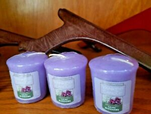 Yankee Candle ~ Samplers Votive Candles ~ 'LILAC BLOSSOMS' ~ Lot Of Three (3)