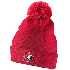 Team Canada Nike Youth 2018 IIHF Marbled World Juniors Pom Beanie Toque