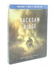 Hacksaw Ridge (Blu-ray+DVD+Digital, 2017; 2-Disc Set, Steelbook) NEW