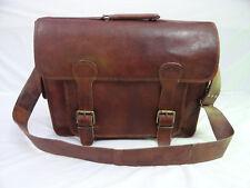 """Vintage Leather DSLR Camera Bag Messenger Briefcase 15"""" Laptop Satchel Crossbody"""