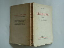 1943 ABREGES POUR LES AVEUGLES DE ALAIN CHEZ HARTMANN PORTRAITS ET DOCTRINES