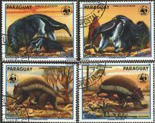 Paraguay 4225-4228 (compl.edición) usado 1988 amenazadas animales