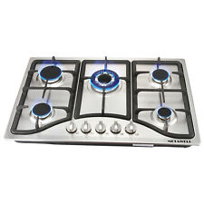 """New listing Ups Ship 30"""" Stainless Steel 5 Burner Built-in Stove Lpg Ng Gas Cooktops - Usa"""