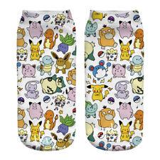 Anime Pokemon Squirtle Ankle Sock Women Low Cut Crew Socks 1pc