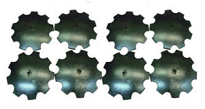 """18'' Notched Disc Harrow Blades Scalloped HEAVY DUTY 1"""" or 1 1/8"""" SQ  *LOT OF 8*"""