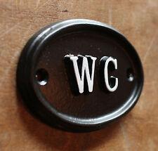 WC Toilet Door Sign Ladies & Gents Bathroom Loo Vintage Cast Black BATH-09-bl