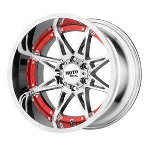 "20"" Moto Metal Hydra Chrome (MO99321285244N) Set of 4 Wheels Rims"