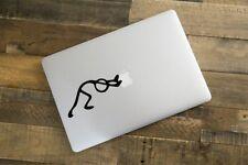 Sticker pour MacBook Pro Air - Stickman Pousse Pomme - Noir ou Blanc