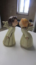 Vintage Kissing Angel Pair with Female Music Box, Plays Somewhere My Love