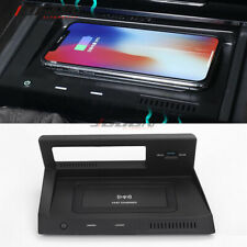 Car QI 10W Console Wireless Phone Charger Plate For Volkswagen Tiguan 2017- 2020
