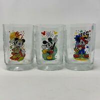 McDonalds Mickey Mouse 2000 Celebration Walt Disney World Set of 3 Glasses