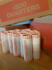 3 Bank Wrap $10 Roll Quarters, Sealed Circulated Uncirculated Mixture Mints Date