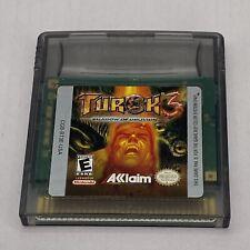 Turok 3: Shadow of Oblivion (1998) Nintendo Game Boy Color Cartridge Only. Works