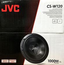 NEW JVC CS-W120 DRVN Series Single Voice Coil 4 Ohm Car Audio Subwoofer CSW120
