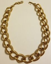 Vintage Monet heavy, chunky and stylish textured  gold tone rope chain choker