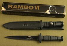 "12"" SHARP RAMBO VI STYLE BOOT DAGGER RUBBER JUNGLE SURVIVAL HUNTING KNIFE GIFT"