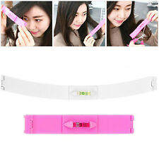 Set! Fashion Fringe Hair Cutting Comb Guide Clipper Layer Bang Tool Scissor Pink