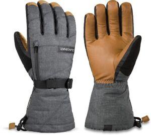 2020 Men's Dakine Titan Leather Gore Tex 5 Finger Ski Gloves Size 9.5 XL Carbon