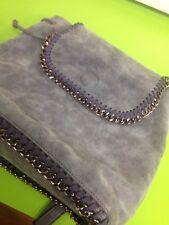 Ladies Bessie London Classic Blue Handbag With Black Metal Detail ruck Sack