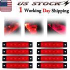 8x 12 Volts Red Led Marine Boat Light Deck Strip Utility Courtesy Light