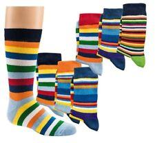 3 Paar Ringel Socken Söckchen Kinder Damen Color Fun Strümpfe bunt 27-42