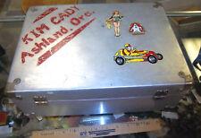 VINTAGE Roller Derby Girl Skates & Metal Case, Wood wheels, Kim Cady Oregon