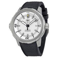 IWC Aquatimer Silver Dial Black Rubber Mens Watch IW329003