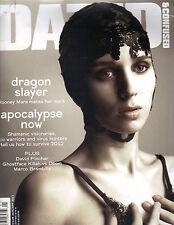 ROONEY MARA UK Dazed & Confused Magazine 1/12 GIRL WITH THE DRAGON TATTOO