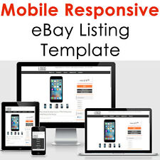 Ebay Template Responsive Professional Listing Design Auction Html Mobile 2017