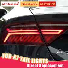 For Audi A7 LED Taillights Assembly Red LED Rear Lamps 2012-2018