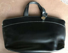 LADIES LARGE BLACK FURLA LEATHER TOTE BAG  - GOOD CONDITION