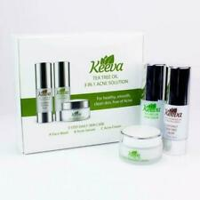 Keeva Organics Tea Tree Oil Acne Solution 3 in 1 Face Wash, Acne Serum And Cream