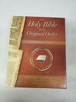 The Holy Bible In its Original Order Black Leather Bound in Collectors Case (dd)
