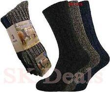 3 Pares Para Hombre Térmica calcetines de senderismo de invierno cálido Grueso Lujoso calcetines de lana