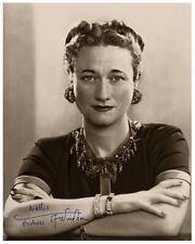"WALLIS SIMPSON ""THAT WOMAN""  Edward VIII 8x10 Vintage Photograph Autograph RP"