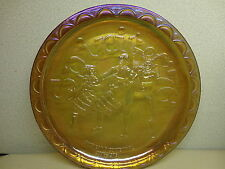 Spirit of '76 American Bicentennial Drummers Amber Indiana Carnival Glass Plate