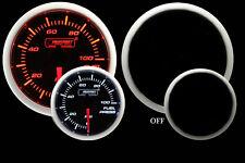 "Fuel Pressure Gauge- Electric Prosport Amber & White 52mm (2 1/16"") W/Sender"